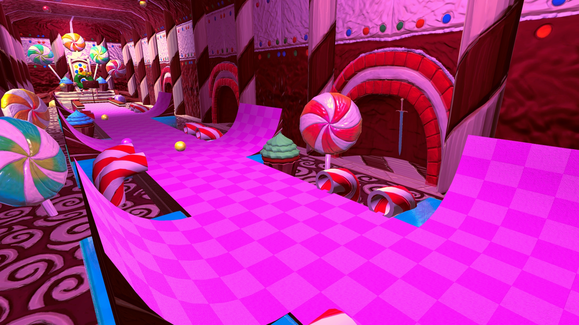 The Candyland course in Golf with your Friends
