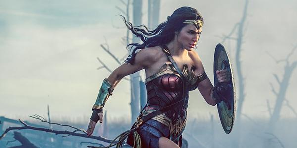 Wonder Woman running through no man's land