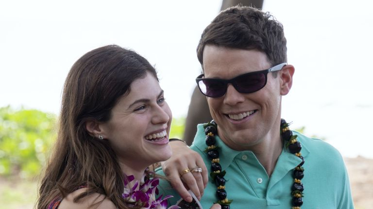 The White Lotus cast: Alexandra Daddario as Rachel and Jack Lacey as Shane