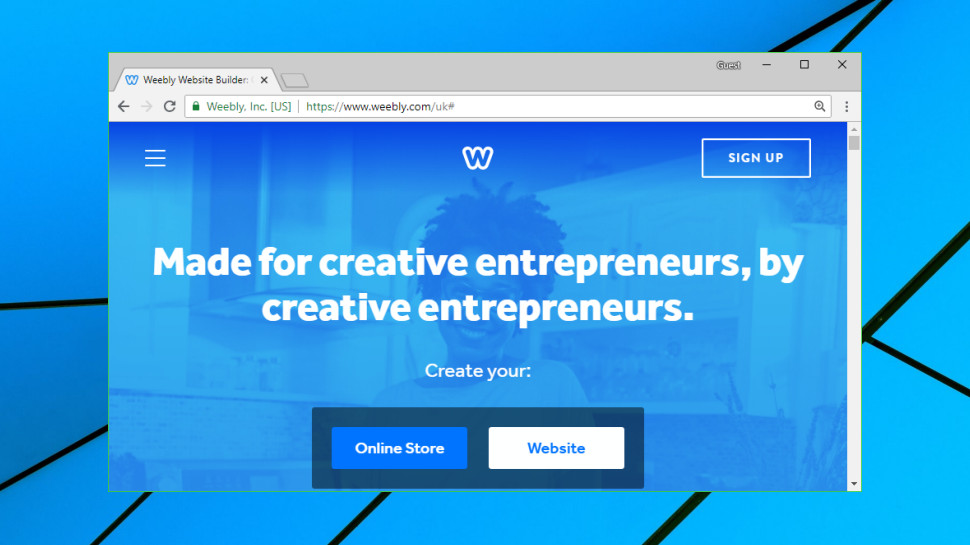 in stock Website builder Weebly