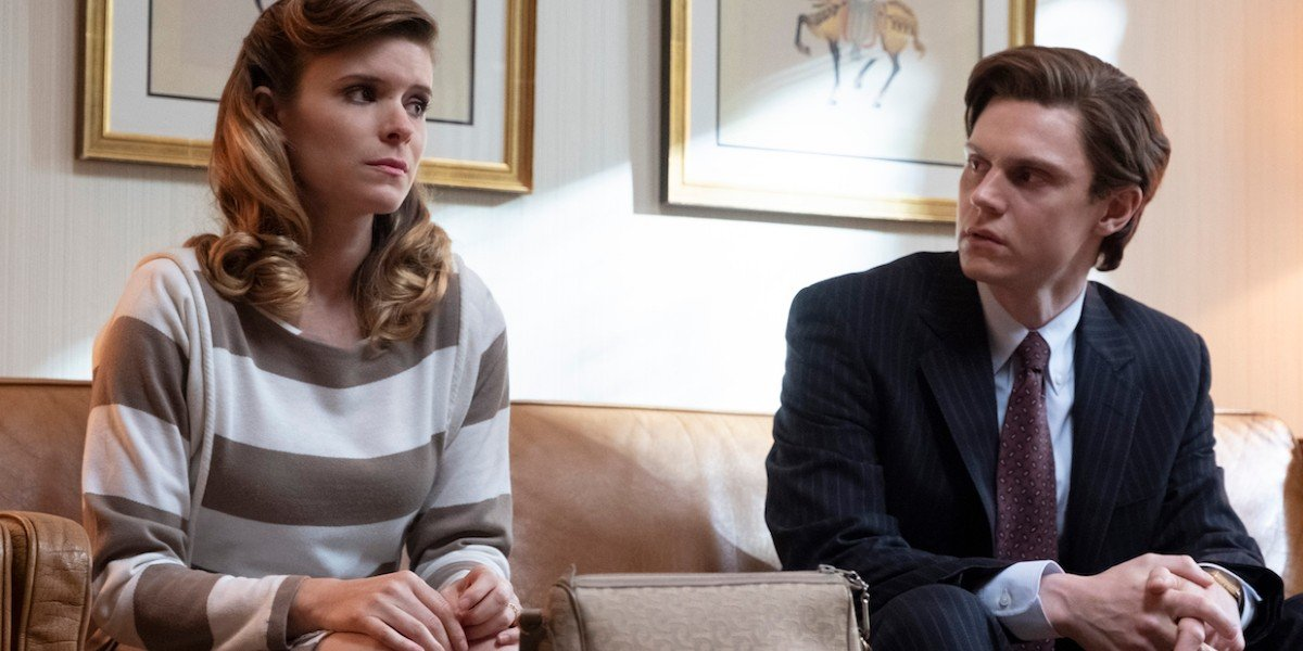 Kate Mara and Evans Peters in Pose
