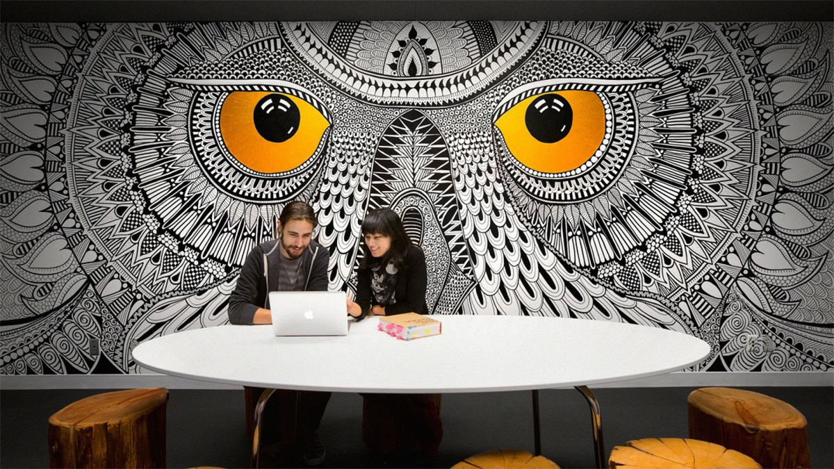 22 incredibly cool design office murals