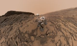 Mars Rover Image of Murray Buttes