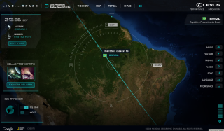 Tracking ISS Using 'Live from Space' Website