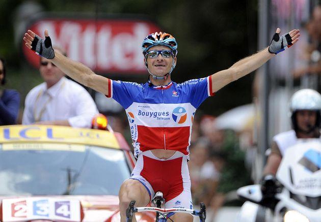 Thomas Voeckler wins, Tour de France 2010, stage 15