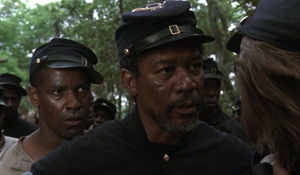 Denzel Washington and Morgan Freeman in Glory