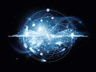 an abstract representation of an atom