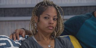 Tiffany Mitchell staring inquisitively Big Brother CBS