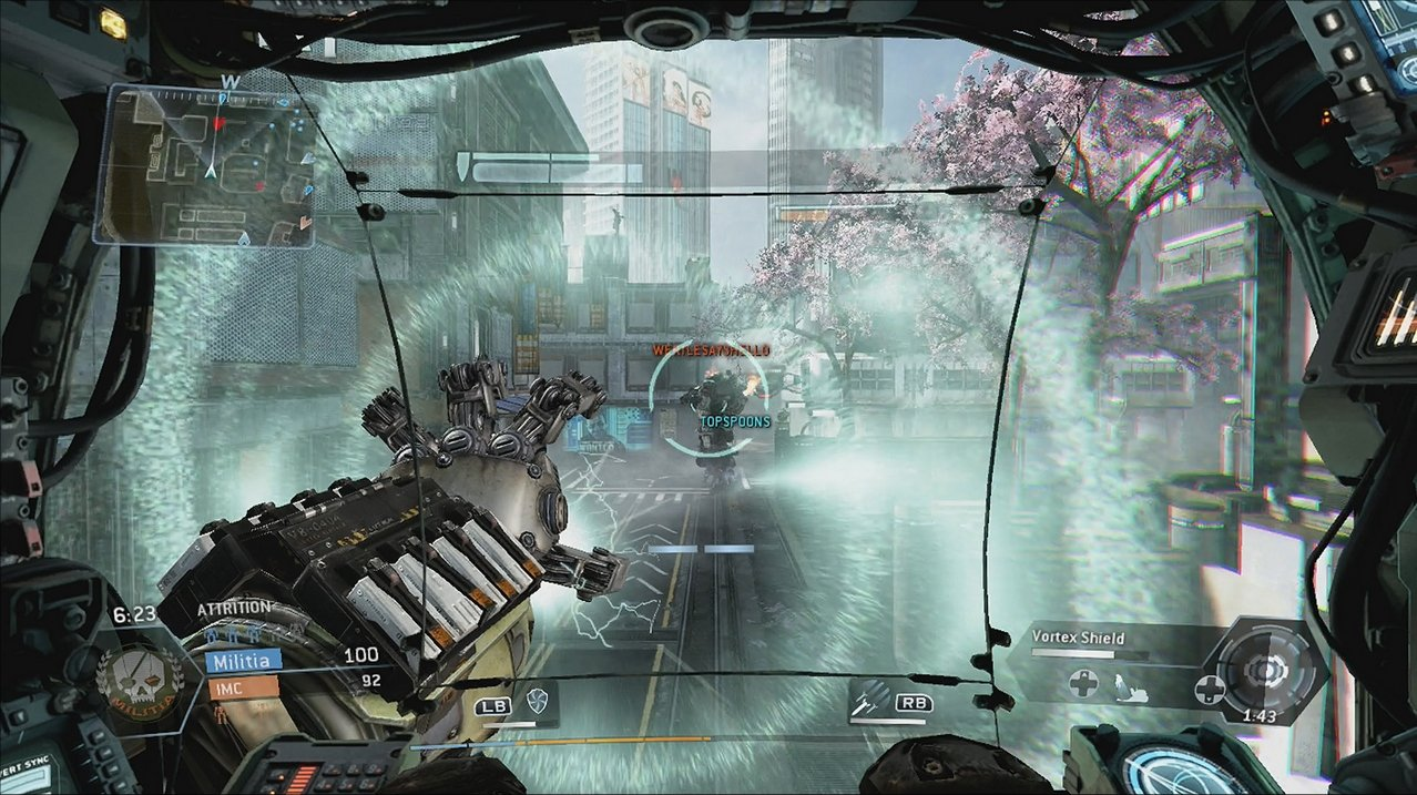 Xbox One Game Graphics : Titanfall xbox screenshot graphics compared to one