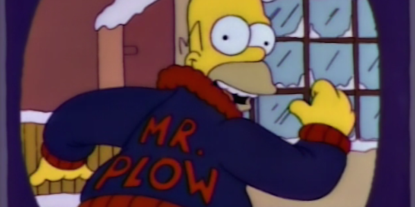 Simpsons Mr. plow Homer Simpson