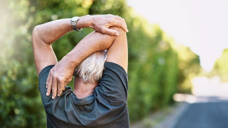 Stretching to stay active, essential for losing weight over 50