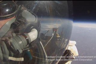 Alan Eustace during a skydive