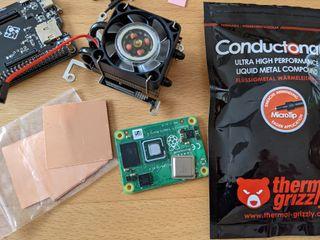 Equipment to overclock a Raspberry Pi Compute Module 4