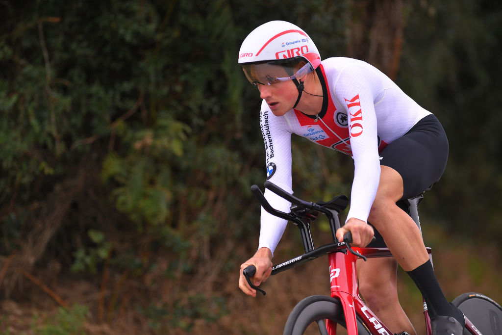 PLOUAY FRANCE AUGUST 24 Stefan Kung of Switzerland during the 26th UEC Road European Championships 2020 Mens Elite Individual Time Trial a 256km race from Plouay to Plouay ITT UECcycling EuroRoad20 on August 24 2020 in Plouay France Photo by Luc ClaessenGetty Images