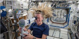 Karen Nyberg images eye on ISS