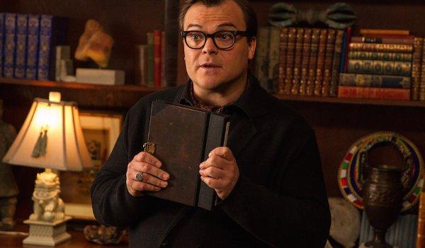 Goosebumps Jack Black clutching a book