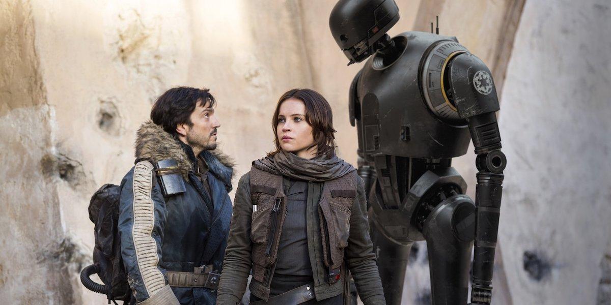Diego Luna and Felicity Jones in Rogue One