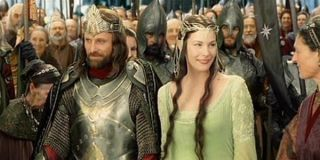 Lord of the Rings: Return of the King Aragorn and Arwen Coronation