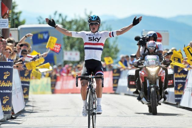 Peter Kennaugh wins Stage 1 of the 2014 Tour of Austria
