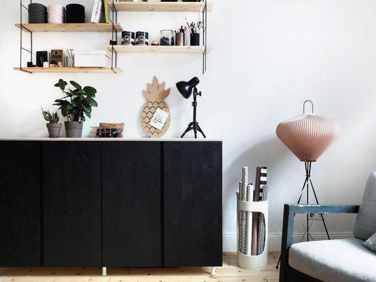 Ivar cabinet from Ikea hacks by Antonia Schmitz in black
