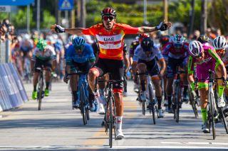 Il Giro di Sicilia 2021 2nd stage Selinunte Mondello 173 km 29092021 Juan Sebastian Molano COL UAE Team Emirates photo Dario BelingheriBettiniPhoto2021