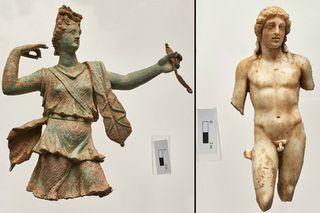 Statues of Artemis and Apollo uncovered in Crete