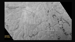 Frozen Plains of Pluto (Annotated)