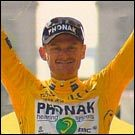 Floyd Landis in yellow