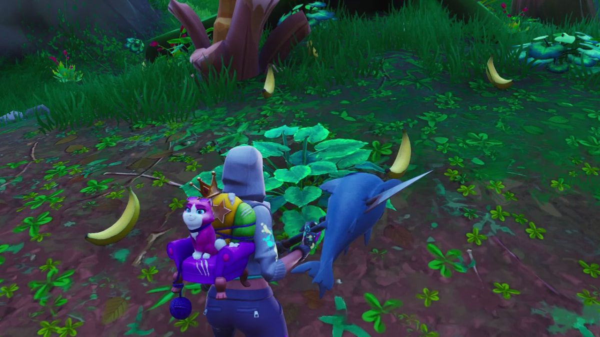 fortnite banana locations where to find fortnite bananas and how to use them to give yourself a health boost gamesradar - fish fortnite character