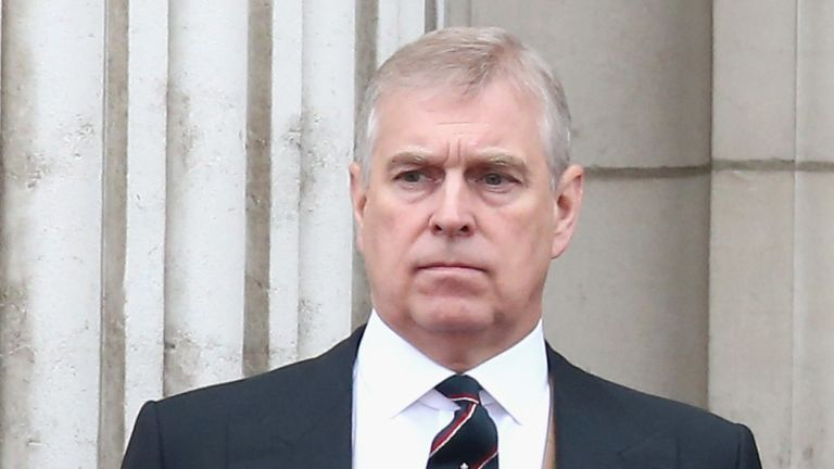 Prince Andrew, Duke of York on the balcony of Buckingham Palace during the Trooping the Colour on June 13, 2015