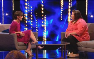 This Time Next Year S3 ep1 Host Davina McCall with Fiona
