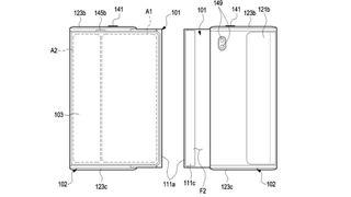 Alleged Samsung Galaxy Z Slide/Roll patent filing