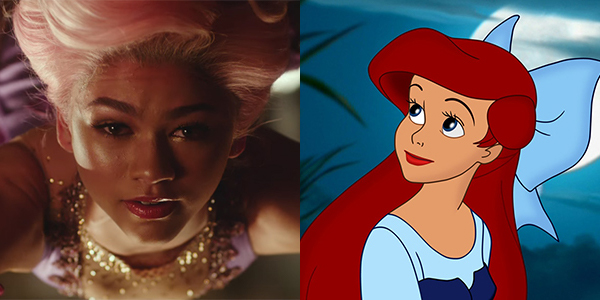 Zendaya in The Greatest Showman and The Little Mermaid's Ariel