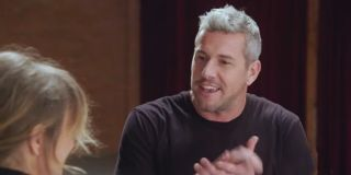 Ant Anstead talking to Renee Zellweger during their first meeting on Celebrity IOU: Joyride