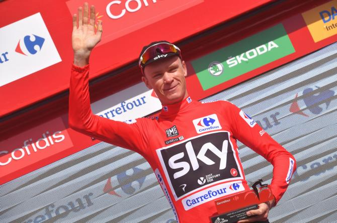 Another day in red for Chris Froome (Team Sky)