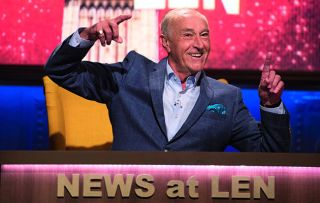Len Goodman's back on Saturday-night TV with a new family game show