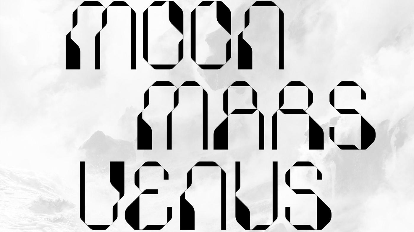 Futuristic font Code 2020