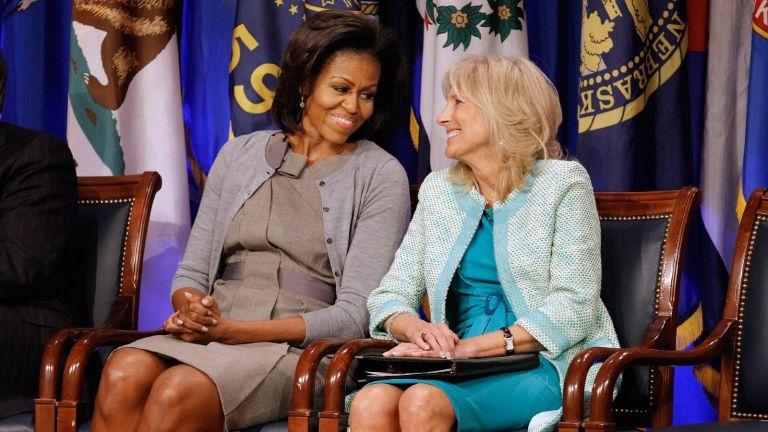 Michelle Obama and Dr. Jill Biden