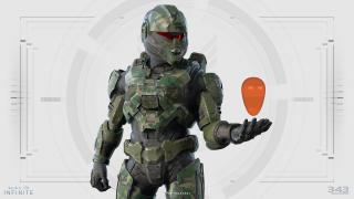A Halo Infinite Spartan