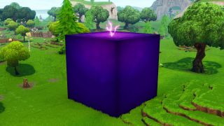 Fortnite's giant purple cube is moving around the map (and