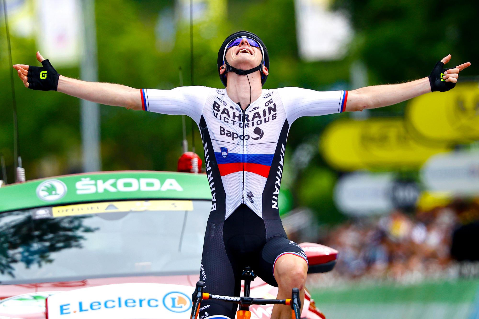 Tour de France 2021 - 108th Edition - 7th stage Vierzon - Le Creusot 249,1 km - 02/07/2021 - Matej Mohoric (SLO - Bahrain Victorious) - photo Luca Bettini/BettiniPhoto©2021
