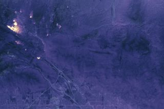 The Thermal Infrared Sensor (TIRS) on the Landsat 8 satellite captured this image of California's Blue Cut wildfire at 10:36 p.m. local time on Aug. 17, 2016.