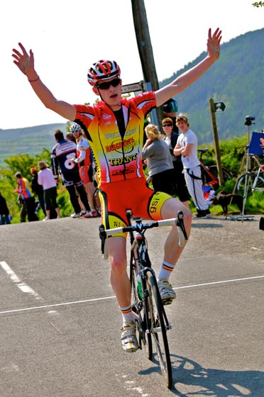 Alastair Slater, overall winner, Isle of Man Youth Tour 2011