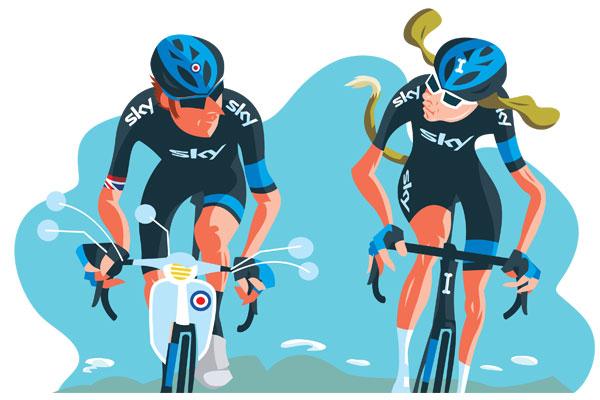 Weekly Calendar Spread : Wiggins vs froome cycling weekly
