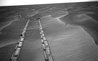 Mars Exploration Rover Opportunity Looks Back