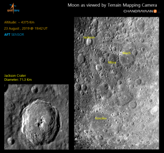 A view of the far side of the moon captured by the Chandrayaan-2 spacecraft on Aug. 23, 2019.