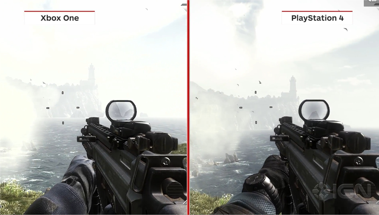 Xbox One Vs Ps4 Graphics Side By Side PS4 Vs Xbox One: See H...