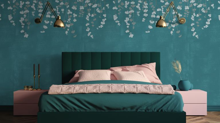 Cherry Blossom in Jade Wallpaper by Feathr