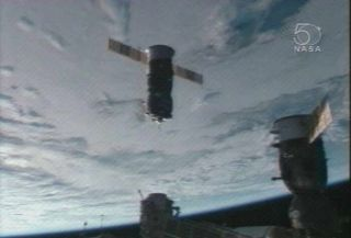Fresh Cargo Ship Arrives at Space Station
