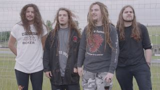 Igor, 2nd left, with Sepultura in 1994